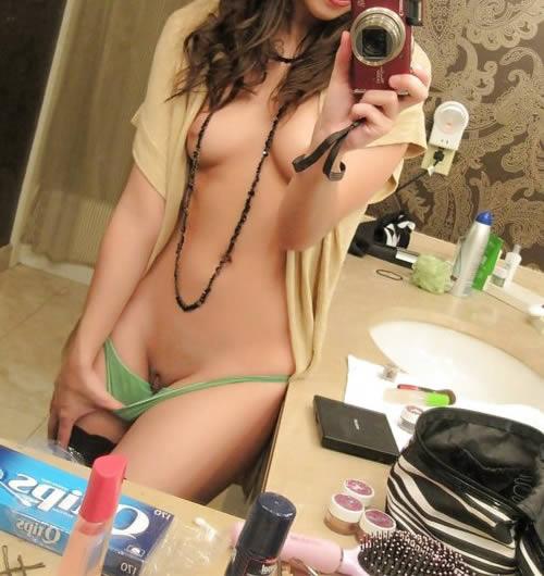 selfie chica webcam