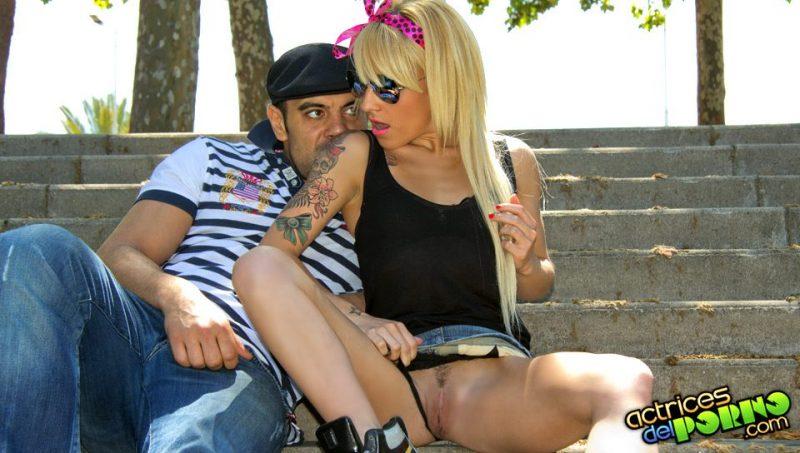 Sexo en un parque de Barcelona con Jordanne Kali