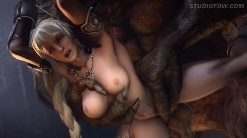 Chicas 3D Hentai folladas brutalmente por demonios con pollas gigantes