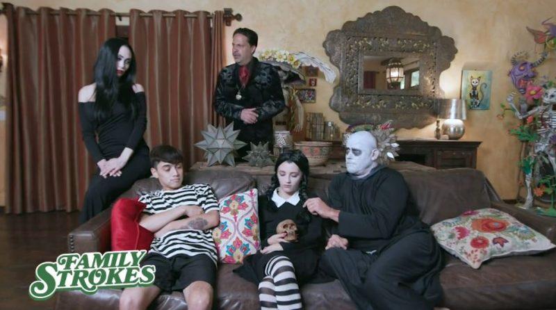 La familia Addams XXX, gran orgía de la familia Addams