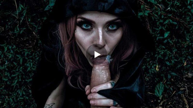 Mamada de bruja sexy del bosque